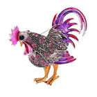 Fashion Rooster Brooch Mix Color Crystal Rhinestone Brooches Animal Brooches