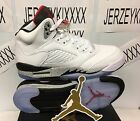 AIR JORDAN 5 RETRO BG GS 440888-104 Grade School White/Red/Grey SZ 5-7 ON HAND
