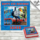 THOMAS THE TANK ENGINE SQUARE BIRTHDAY CAKE TOPPER DECORATION PERSONALISED