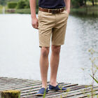 Front Row FR605 Mens Stretch Flat Front Chino Short/Chino Shorts Navy or Stone