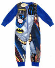 BOYS BATMAN FLEECE all-in-one, sleepsuit, pj's 2-8yrs Blue - Minor imperfections
