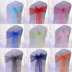 Beautiful Wedding Baptism Organza Chair Cover Sashes BOW SASH Fast Deliver Gift