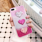 3D Love Heart Sequins Luxury Glitter Powder Phone Case For iPhone 6 6S 7 Plus