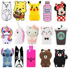 For Samsung Galaxy Phones 3D Cute Animals Cartoon Soft Silicone Case Cover Back