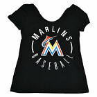 Victoria's Secret Miami Marlins T Shirt Pink Mlb Baseball Graphic Logo Tee New