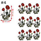New Embroidered Rose Flower Sequin  Applique Iron On Sew On Patch Clothing DIY фото