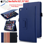 "For New iPad Pro 10.5""/9.7"" 2017 Leather Stand Case Folio Smart Wake/Sleep Cover"