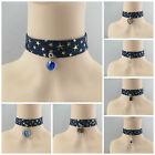 NEW ARRIVAL  2.5CM DENIM GOLD STAR CHOKER NECKLACE WITH VARIOUS CHARMS DESIGN
