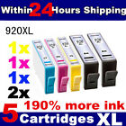 5 HP 920XL OFFICEJET INKJET INK CARTRIDGES FOR HP OFFICEJET PRINTER WITH CHIP