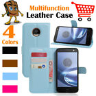 Leather Wallet Stand  Folio LSP Case Cover Skin For Moto Motorola Z Play Droid