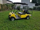 2002 yellow club car, golf cart, Gas Powered, Back Seat Bed -NO RESERVE-!!!