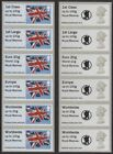 Royal Marines Kiosk A005 Post & Go Faststamp Machin LOGO & Flag Collector Strips