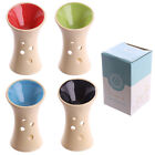 Ceramic Oil Burner Round Top Fluted Shape wax, Fragrance, Essential Oil