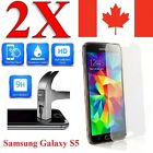 2x Plastic / Tempered Glass Screen Protector For Samsung Galaxy S5 & S5 NEO