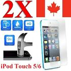 2x Plastic / Tempered Glass Screen Protector For iPod Touch 5 & iPod Touch 6