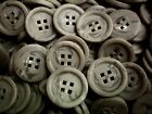 W315 Large 23mm 36L Light Brown Swirl 4 Hole Quality Satin Coat Buttons Craft