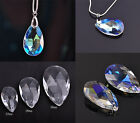 5pcs 22~38mm Teardrop Crystal Glass Pendants Faceted Beads Jewelry Findings DIY