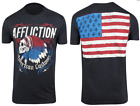 Affliction Mens S/S T-Shirt TOMAHAWK American Customs USA FLAG Biker S-2XL $58 image