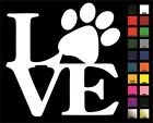 Paw LOVE Large Decal / Sticker - Choose Color & Size - Dog, Puppy, Cat, Kitten