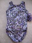NWT GK Elite Purple Silver Foil Shimmer Gymnastics Leotard Adult Sizes