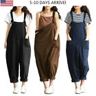 Casual Overall Pants Women Loose Jumpsuit Strap Dungaree Harem Trousers