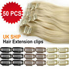33MM 10/20/30/50pcs Snap Clips for Hair Extensions Weft Black Brown Blonde GY086