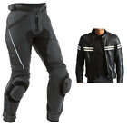 Black Stripe Motorcycle Leather Suit MotoGp Sports Motorbike Leather Suit XS-4XL