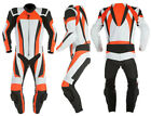 Orange Motorcycle Leather Suit MotoGp Sports Motorbike Leather Suit XS-4XL