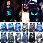 2017 Galaxy Backpack Luminous Casual School Travel Bags without USB Charger
