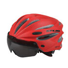 Adult Cycling Helmet MTB Road Bike Bicycle Holes Safety Protective Gear W Visor