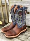 Twisted X Men's Distressed Peanut & Navy Lite Square Toe Western Boots MLCW016