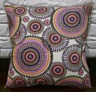 AF257a Coral Pink Lilac Ethnic Cotton Canvas Cushion Cover/Pillow Case Customize