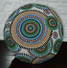 AF255n Orange Green Dot Cotton Canvas Round Cushion Cover/Pillow Case CustomSize