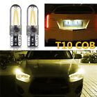 2/10pcs T10 W5W 501 COB LED Wedge Side Canbus Glass Interior License Plate Bulbs