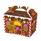 GINGERBREAD HOUSE PARTY MEAL PICNIC FOOD BOXES CHILDREN'S KIDS CARRY PARTY BOX