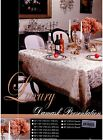 """Luxury Tablecloth , Color :White, Size: 60""""x102"""""""