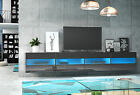 Black Wall Mounted Tv Stand RITA Double Free Led Free P&P Hanging Unit Cupboard