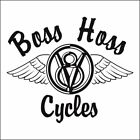 "LARGE 12 "" WIDE BOSS HOSS V8  MOTORCYCLE DECAL KIT BLACK OR WHITE"