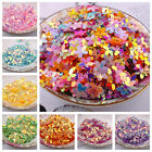 Внешний вид - 100Pcs Flower Loose Sequins Flat Resin Bead Paillette DIY Craft Sewing 10mm