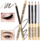 Hot Women Lady Fashion Eyebrow Pen Leopard Eyebrow Pencil With Brush Makeup