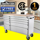 """THOR Useful 55"""" 10 Drawers Rolling Tool Chest Stainless Steel w/ Casters"""