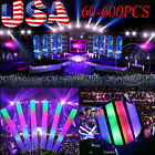 120-600PS Light Up Foam Sticks LED Multi Color Rave Cheer Tube Glow Baton Wands