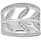 1Ct Diamond Floral Knuckle Ring 14K White Gold