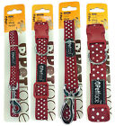 PetFace RED DOTS DESIGN - Leads and Collars - Various Sizes
