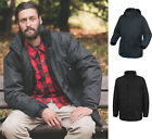 Trespass Mens Waterproof Windproof Breathable Jacket Coat with Quilted Lining