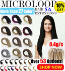"14"" 0.4g 6A 100% Remy Micro Ring Loop Beads Human Hair Extensions 200s 100s UK"
