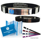 epilepsy color - Pre-engraved DESIGNER Medical Alert ID Bracelet. Choose Medical Cond.