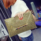 Women Glitter Sequins Handbag Party Evening Envelope Clutch Bag Wallet Purse 97K