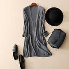 Good Quality 85% Silk 15% Wool Long Cardigan Shawl Sweater one size in 3 color