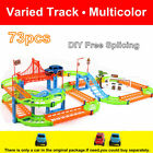 73pcs Kids Electric Toy Car Flexible Variable Track Set Toy Car Racing Game